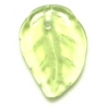 Glass Bead Leaves 3X14mm Olivine Strung